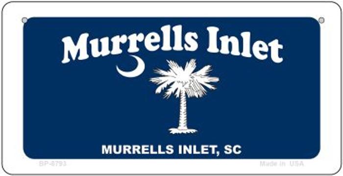 Murrells Inlet Blue Flag Novelty Metal Bicycle Plate BP-8793