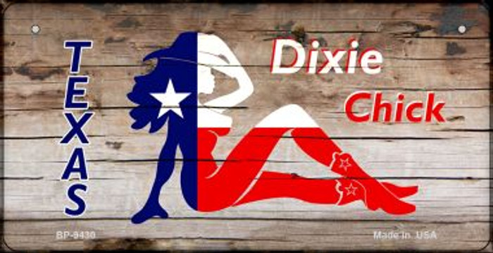 Texas Dixie Chick Novelty Metal Bicycle Plate BP-9430
