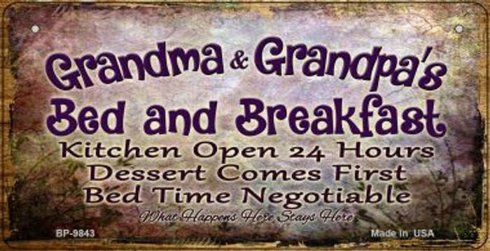 Grandmas and Grandpas Bed Novelty Metal Bicycle Plate BP-9843