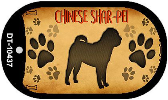 Chinese Shar-Pei Novelty Metal Dog Tag Necklace DT-10437