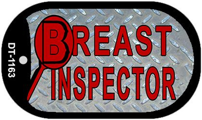 Breast Ispector Novelty Metal Dog Tag Necklace DT-1163
