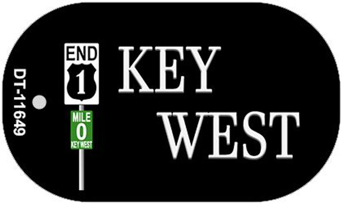Key West Highway Sign Novelty Metal Dog Tag Necklace DT-11649