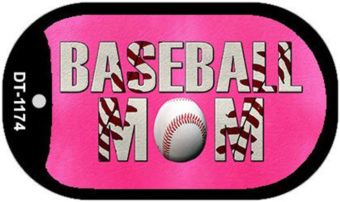 Baseball Mom Novelty Metal Dog Tag Necklace DT-1174