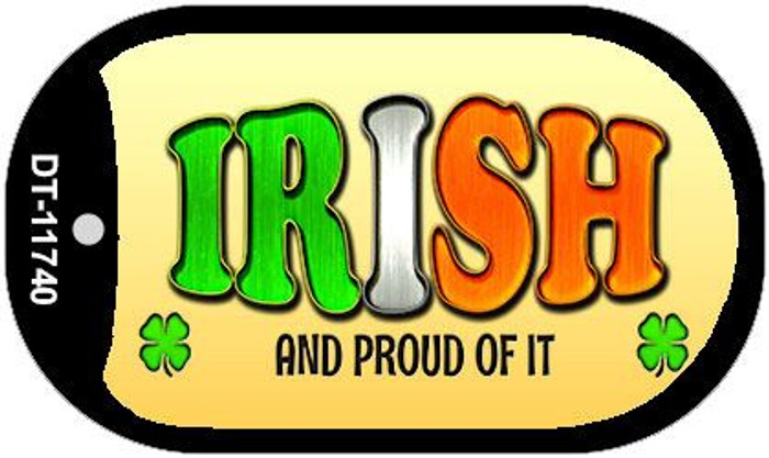 Irish and Proud Novelty Metal Dog Tag Necklace DT-11740
