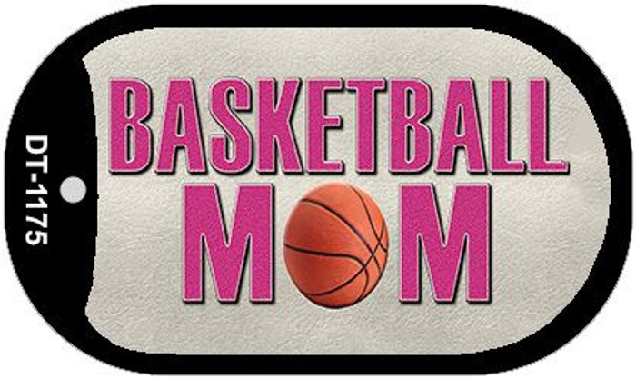 Basketball Mom Novelty Metal Dog Tag Necklace DT-1175