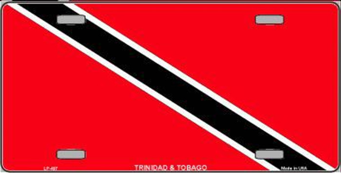Trinidad Tobago Flag Metal Novelty License Plate LP-497