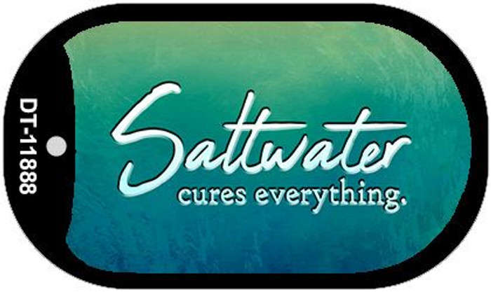 Saltwater Cures Everything Novelty Metal Dog Tag Necklace DT-11888