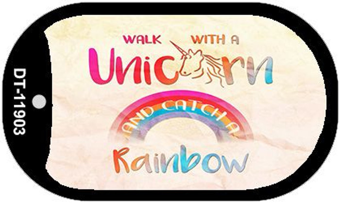 Walk with a Unicorn Novelty Metal Dog Tag Necklace DT-11903