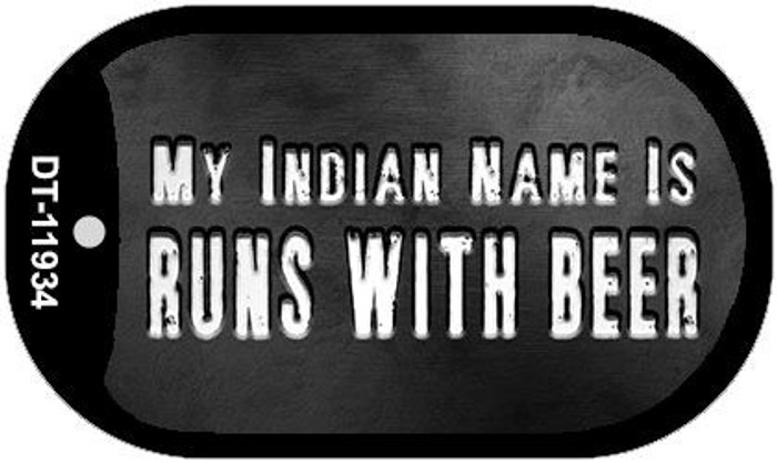 My Indian Name Novelty Metal Dog Tag Necklace DT-11934