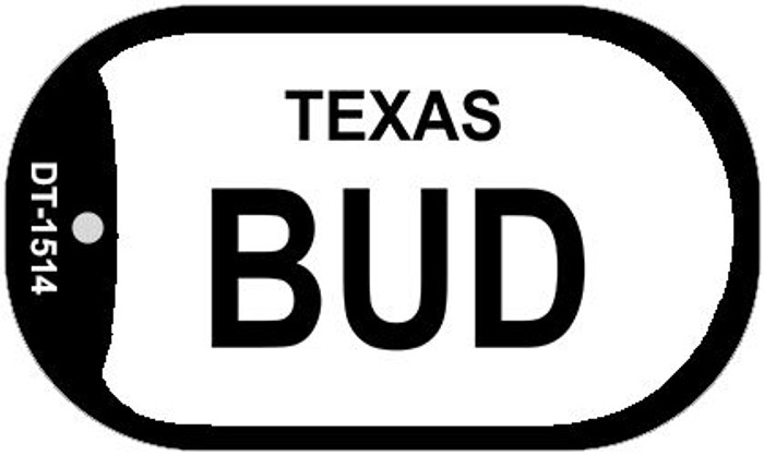 Bud Texas Novelty Metal Dog Tag Necklace DT-1514