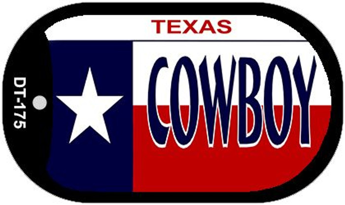 Cowboy Texas Novelty Metal Dog Tag Necklace DT-175