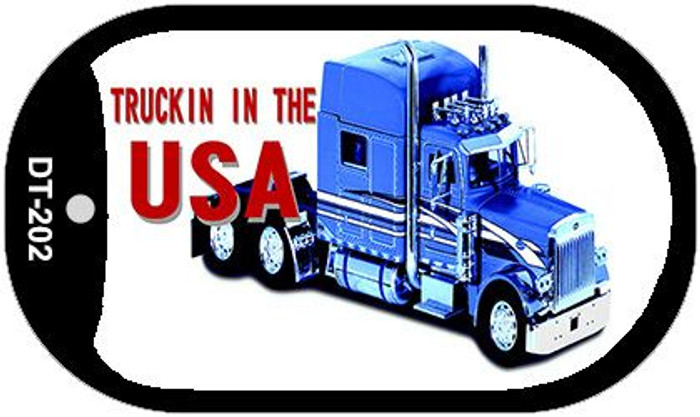Trucking In The USA Novelty Metal Dog Tag Necklace DT-202