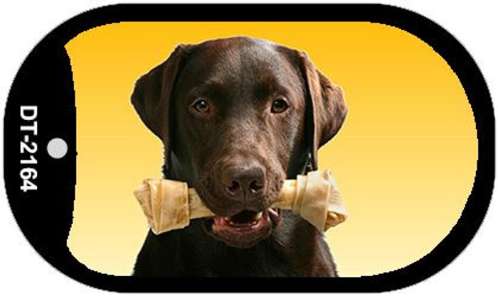 Chocolate Lab Novelty Metal Dog Tag Necklace DT-2164