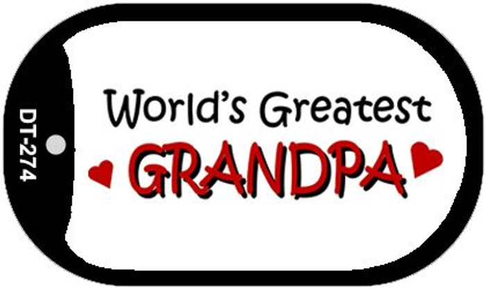 Worlds Greatest Grandpa Novelty Metal Dog Tag Necklace DT-274