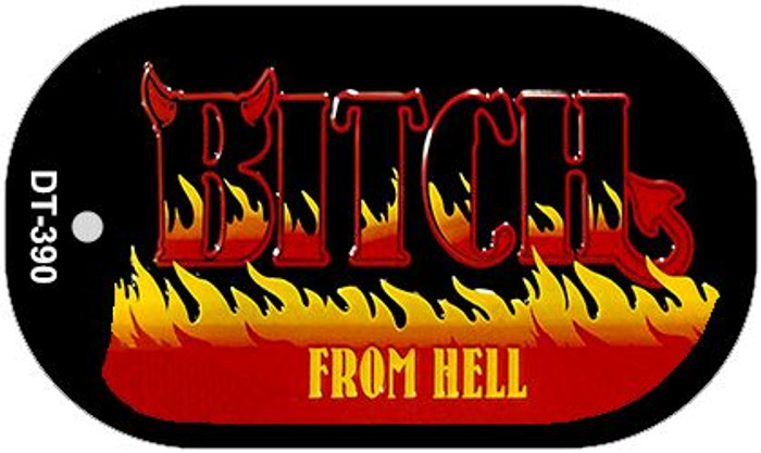 Bitch From Hell Novelty Metal Dog Tag Necklace DT-390