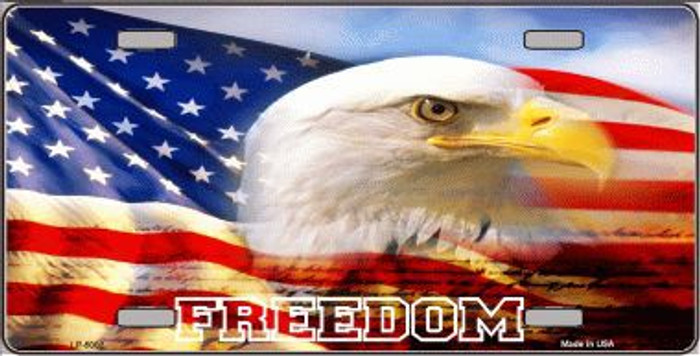 Freedom Bald Eagle Metal Novelty License Plate LP-5002