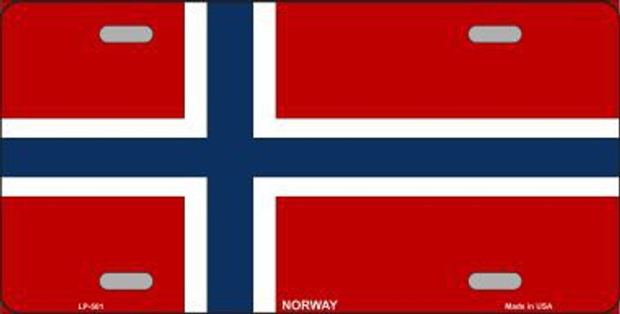 Norway Flag Metal Novelty License Plate LP-501