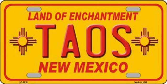 Taos Yellow New Mexico Novelty License Plate LP-5010