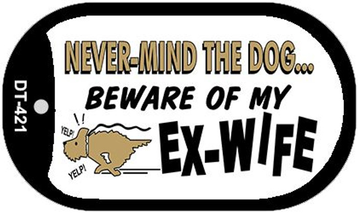 Beware of Wife Novelty Metal Dog Tag Necklace DT-421