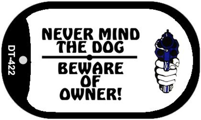 Never Mind Dog Novelty Metal Dog Tag Necklace DT-422