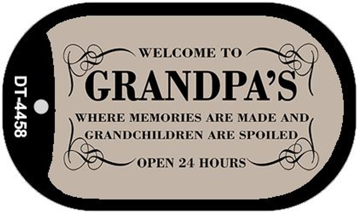 Welcome to Grandpas Novelty Metal Dog Tag Necklace DT-4458