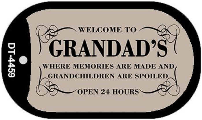 Welcome to Grandads Novelty Metal Dog Tag Necklace DT-4459