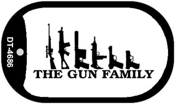The Gun Family Novelty Metal Dog Tag Necklace DT-4686