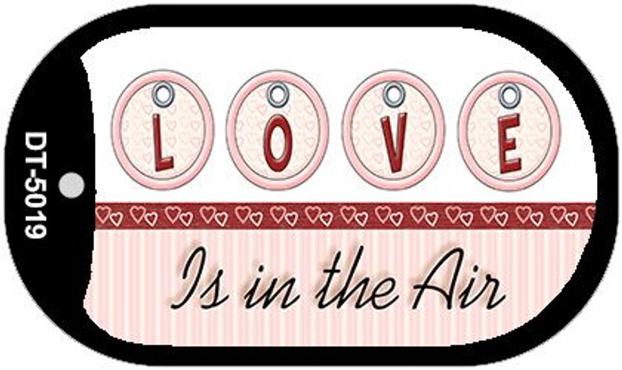 Love in the Air Novelty Metal Dog Tag Necklace DT-5019