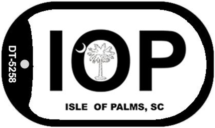 IOP White South Carolina Novelty Metal Dog Tag Necklace DT-5258