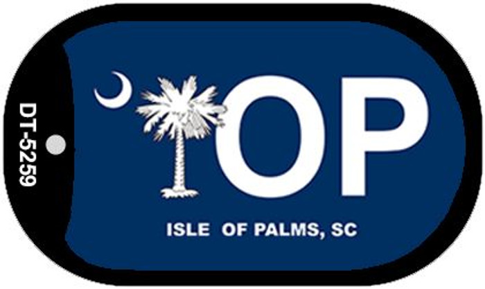 IOP Blue South Carolina Novelty Metal Dog Tag Necklace DT-5259