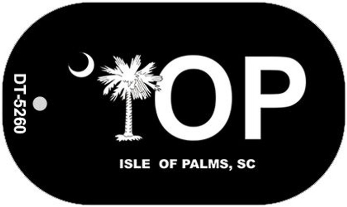 IOP Black South Carolina Novelty Metal Dog Tag Necklace DT-5260