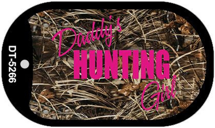 Daddys Hunting Girl Novelty Metal Dog Tag Necklace DT-5266