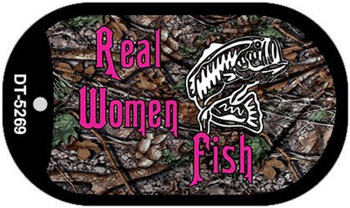 Real Women Fish Novelty Metal Dog Tag Necklace DT-5269