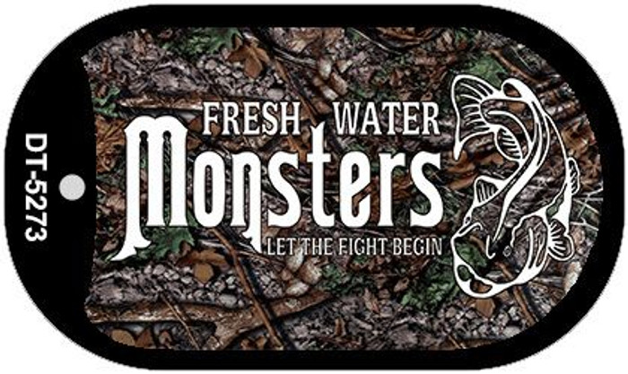 Fresh Water Monsters Novelty Metal Dog Tag Necklace DT-5273
