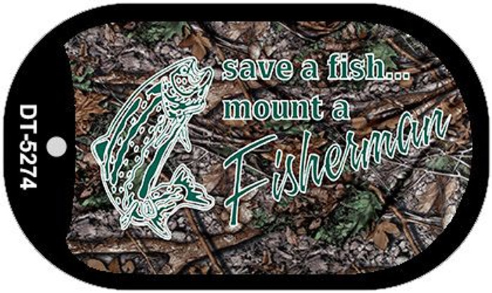 Save A Fish Novelty Metal Dog Tag Necklace DT-5274