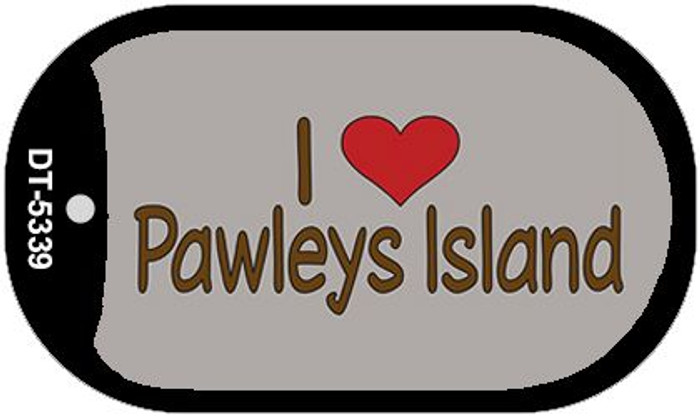 I Love Pawleys Island Novelty Metal Dog Tag Necklace DT-5339
