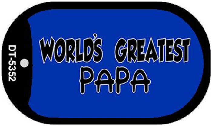 Worlds Greatest Papa Novelty Metal Dog Tag Necklace DT-5352