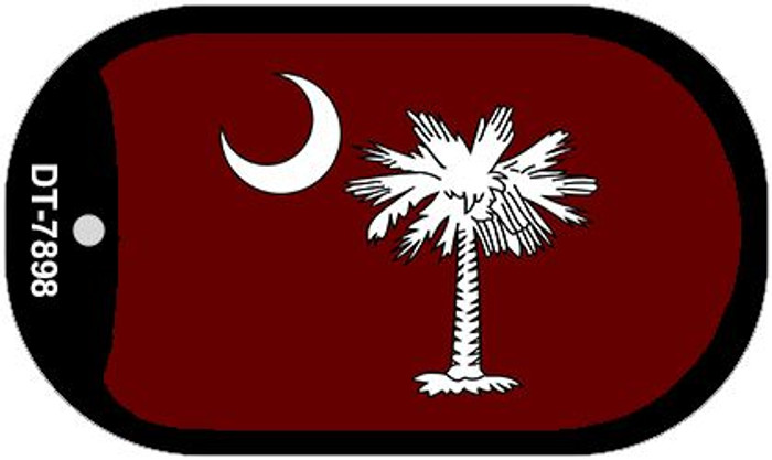 Burgandy South Carolina Flag Novelty Metal Dog Tag Necklace DT-7898