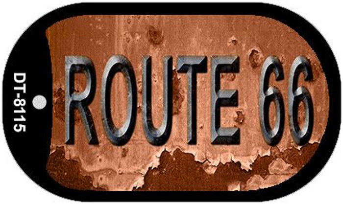 Route 66 Rusty Novelty Metal Dog Tag Necklace DT-8115
