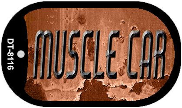 Muscle Car Rusty Novelty Metal Dog Tag Necklace DT-8116