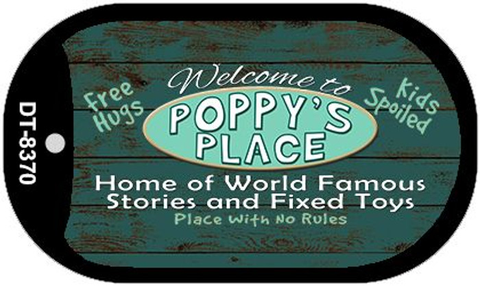 Welcome to Poppys Place Novelty Metal Dog Tag Necklace DT-8370