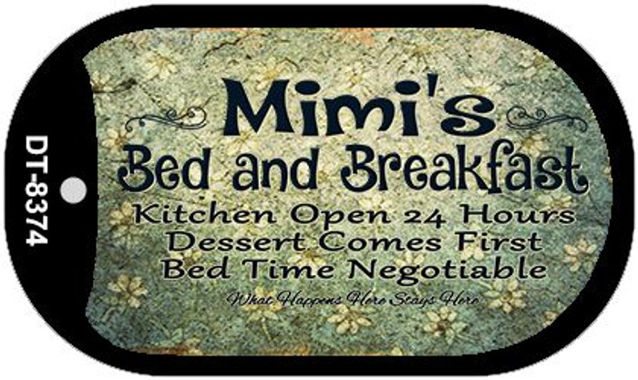 Mimis Bed and Breakfast Novelty Metal Dog Tag Necklace DT-8374