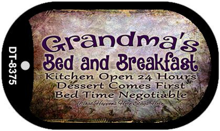 Grandmas Bed and Breakfast Novelty Metal Dog Tag Necklace DT-8375