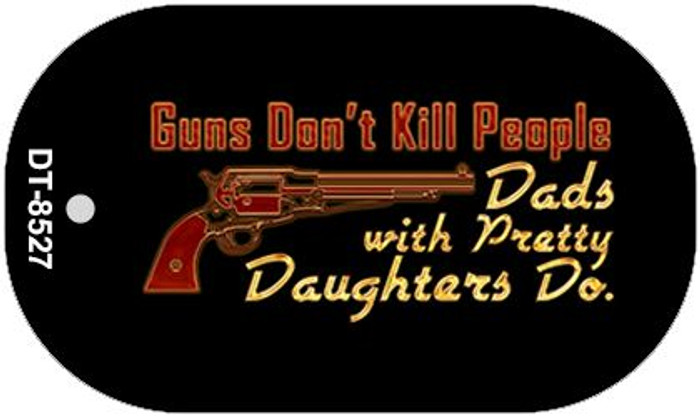 Guns Dont Kill People Novelty Metal Dog Tag Necklace DT-8527