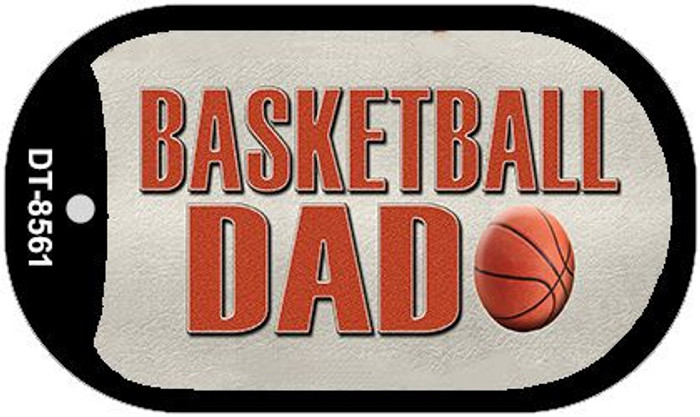 Basketball Dad Novelty Metal Dog Tag Necklace DT-8561