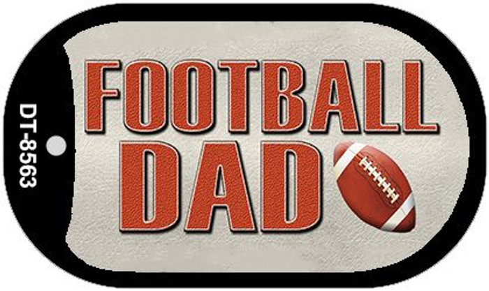Football Dad Novelty Metal Dog Tag Necklace DT-8563