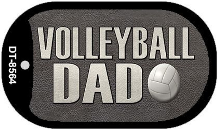 Volleyball Dad Novelty Metal Dog Tag Necklace DT-8564