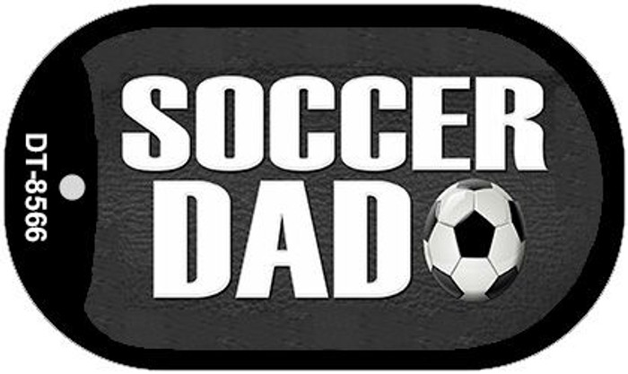 Soccer Dad Novelty Metal Dog Tag Necklace DT-8566