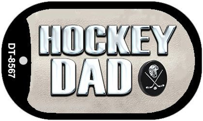 Hockey Dad Novelty Metal Dog Tag Necklace DT-8567