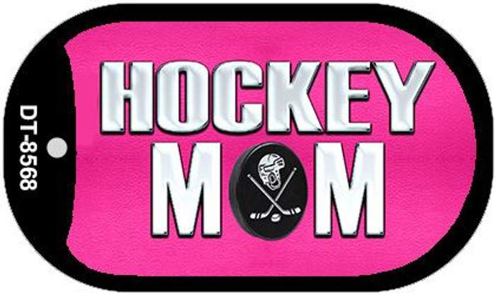 Hockey Mom Novelty Metal Dog Tag Necklace DT-8568